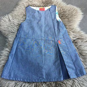 Kenzo Jungle grey denim-like dress - size 6